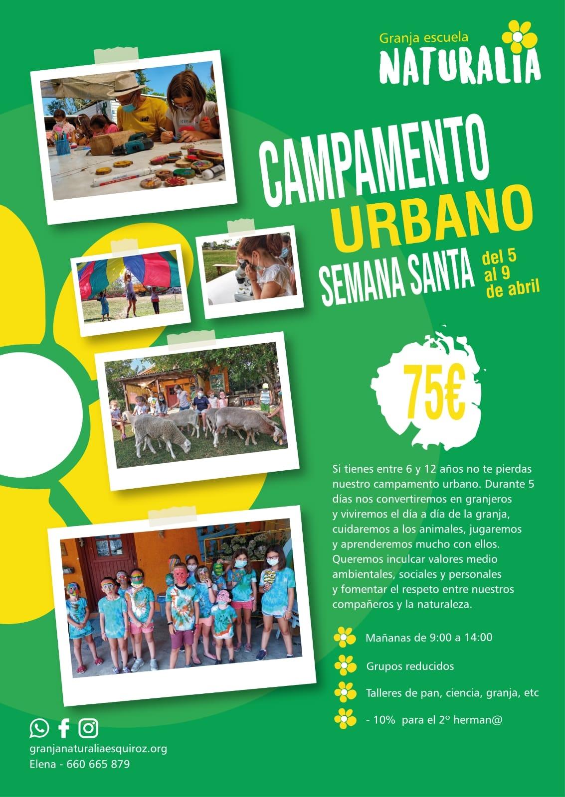 campamento urbano concejo cordovilla semana santa